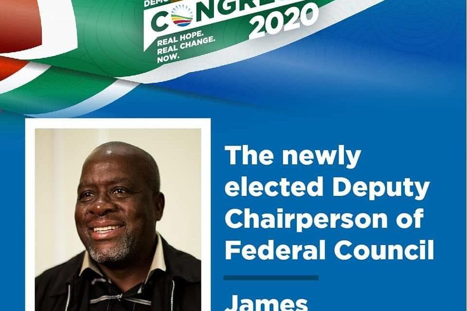 James Masango elected to the DA highest DECISION-making body