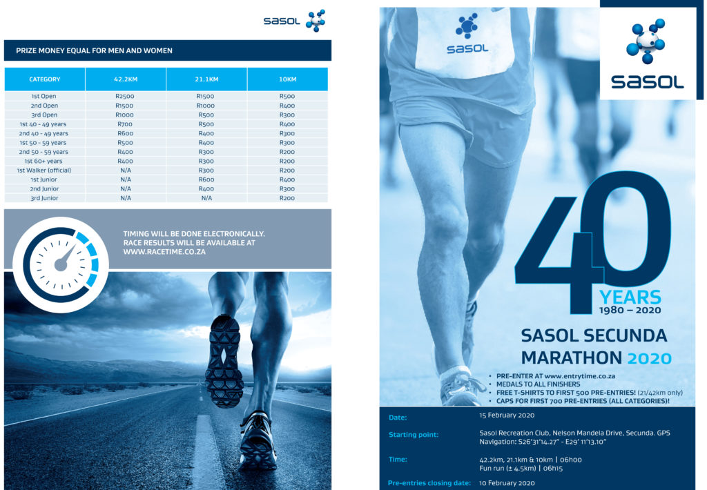 Get ready for Sasol Secunda Marathon