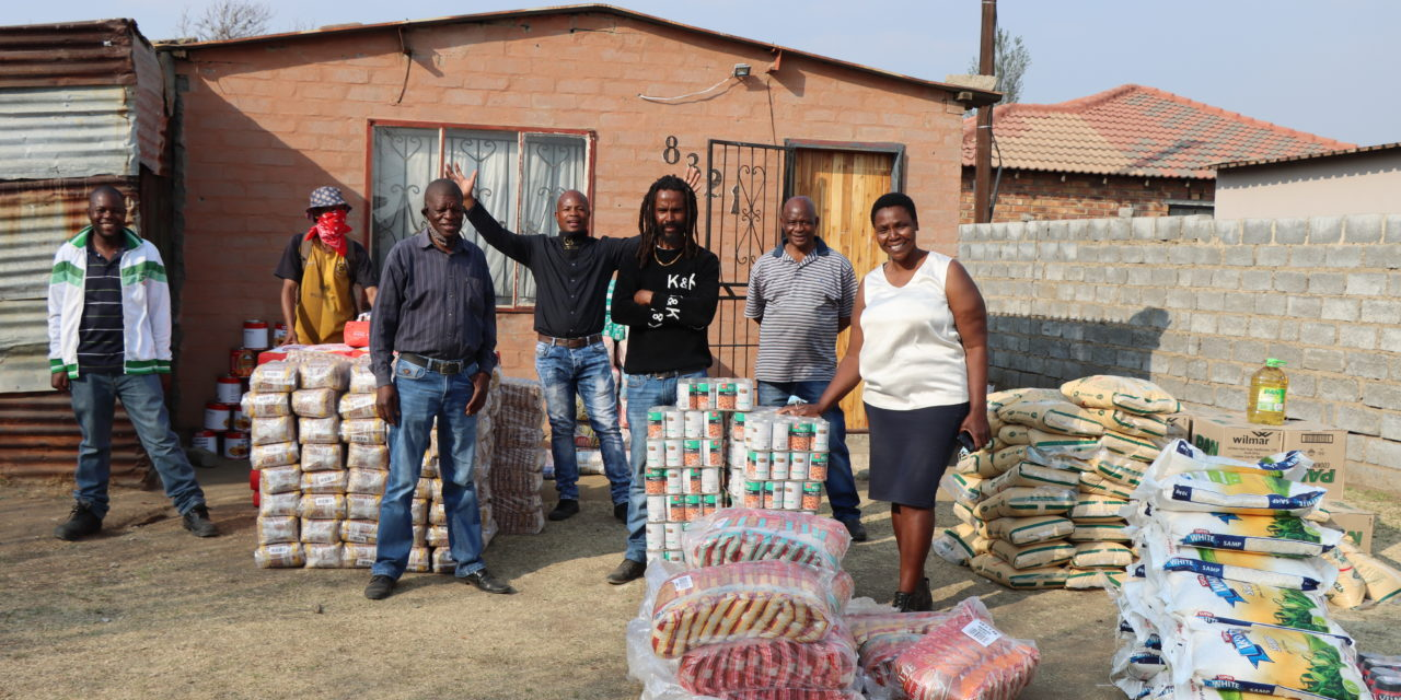Hedna donates food parcels to 50 families