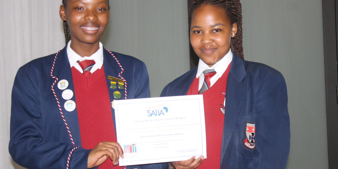 Learners participate at Youth SAIIA