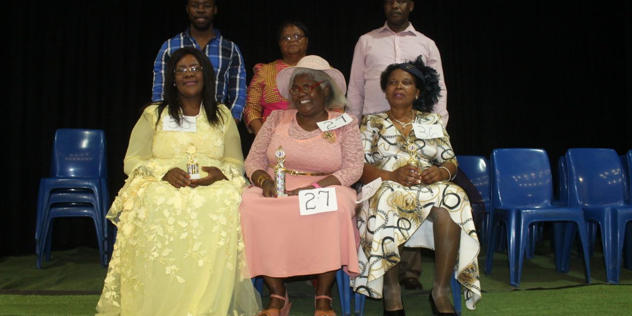 GMM elderly persons takes part at a beauty contest