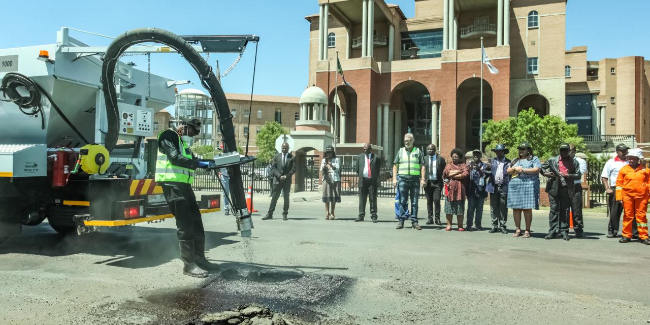 District declares war on potholes