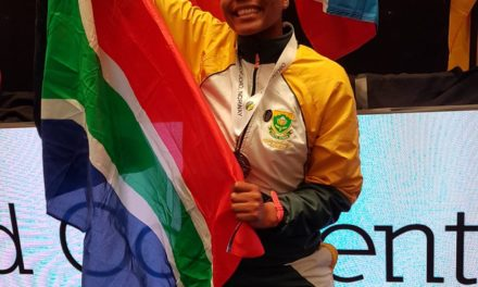 Keo fly the SA flag high in Norway