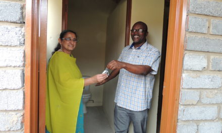 Vukta build toilets for the school