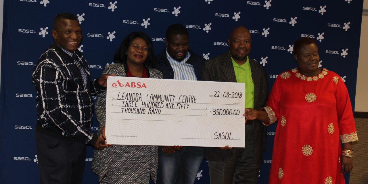 Civil society organisations benefits from Sasol funding