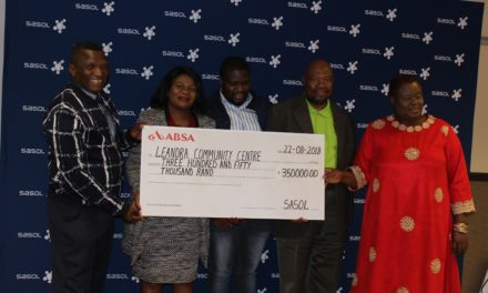 Civil society organisations benefits from Sasol funding