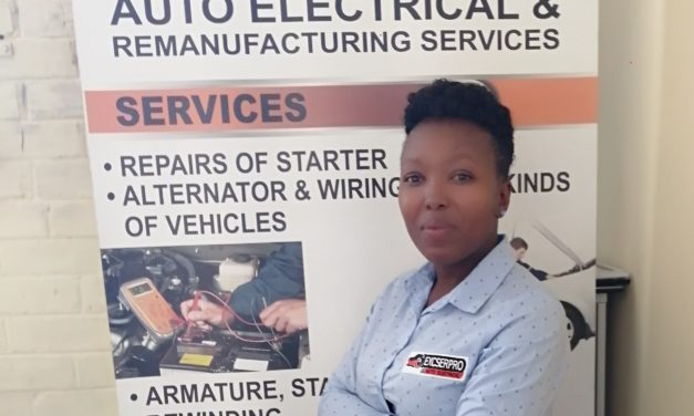 Gabisile takes pride in male dominated industry