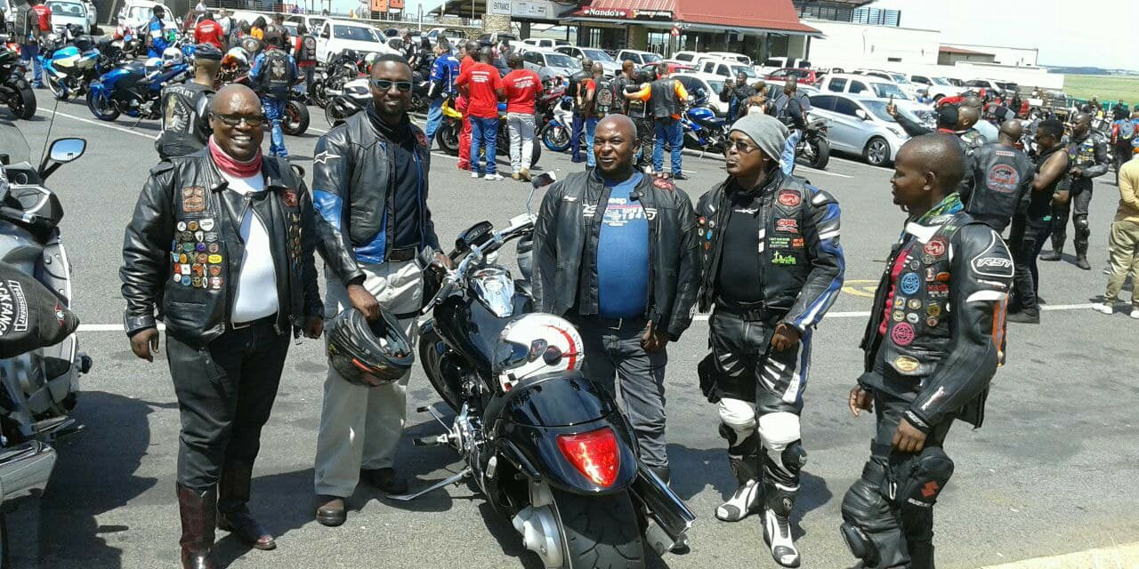 Bikers take part at the Ubuntu Breakfast Run